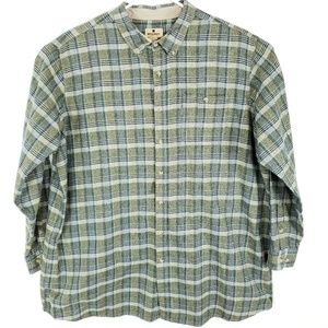 Woolrich Button Up Flannel Shirt Plaid 4XLT